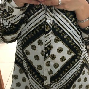 """Forever 21 Tops - Forever 21 """"versace"""" Chain Blouse"""